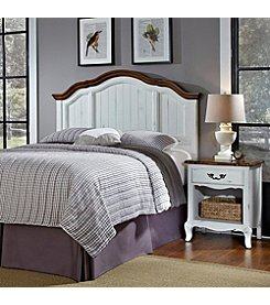 Home Styles® French Countryside Oak and Rubbed White Headboard & Night Stand Set