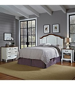 Home Styles® French Countryside Oak and Rubbed White Headboard Collection