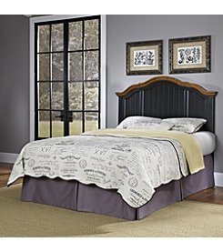 Home Styles® French Countryside Oak and Rubbed Black Headboard