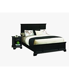 Home Styles® Bedford Black Bed and Night Stand Set