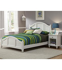 Home Styles® Bermuda Brushed White Bed and Night Stand Set