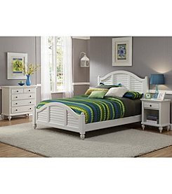 Home Styles® Bermuda Brushed White Bed Collection