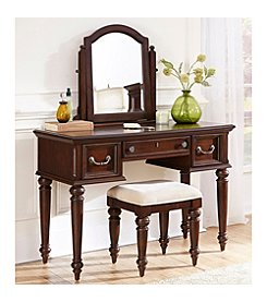 Home Styles® Colonial Classic Dark Cherry Vanity and Bench Set