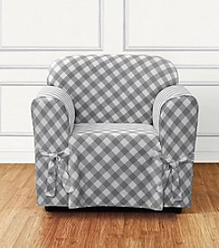 Sure Fit® Buffalo Check Chair Slipcover