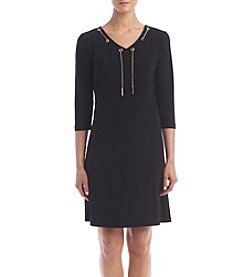 Nine West® Lace Up Neckline Dress