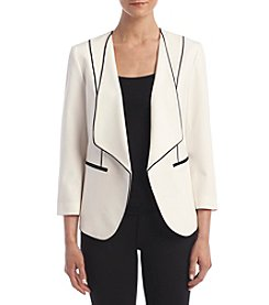 Nine West® Piped Wing Collar Jacket