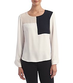 Nine West® Color Block Blouse