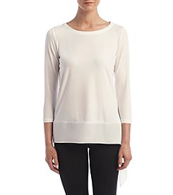 Ivanka Trump® Asymmetrical Hem Top