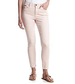 Ivanka Trump Blush Skinny Ankle Jeans