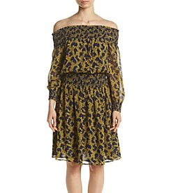 MICHAEL Michael Kors® Smocked Off Shoulder Printed Dress