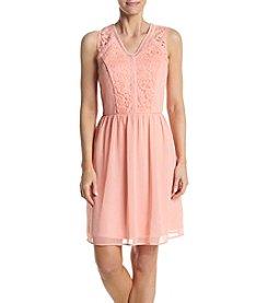 AGB® Lace Trim Dress