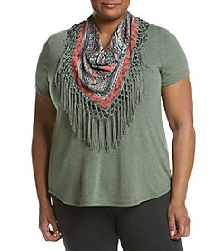 Oneworld® Plus Size Scarf Tee