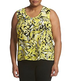 Kasper® Plus Size Wildlfower Printed Tank