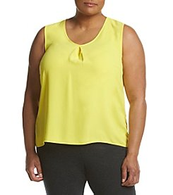 Kasper® Plus Size V-neck Blouse