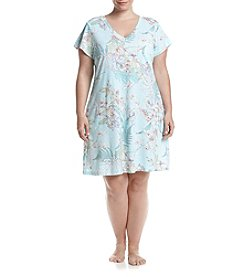 Miss Elaine® Plus Size Floral Nightgown