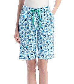 KN Karen Neuburger Printed Bermuda Shorts