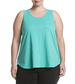 KN Karen Neuburger Plus Size Split Back Tank