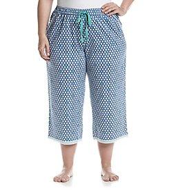 KN Karen Neuburger Plus Size Printed Pajama Capris
