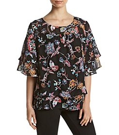 Relativity® Printed Layered Blouse