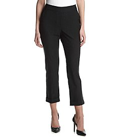 Relativity® Belted Crepe Mill Ankle Pants