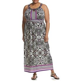 Studio Works® Plus Size Halter Neckline Maxi Dress