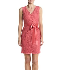 Adrianna Papell® Wrap Front Lace Dress