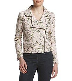 BLANKNYC® Asymmetric Zip Floral Moto Jacket