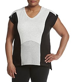 Calvin Klein Performance Plus Size Color Blocked Tee