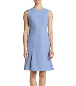 Calvin Klein Denim Chambray Flared Dress