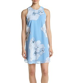 Calvin Klein Floral Printed Chiffon Shift Dress