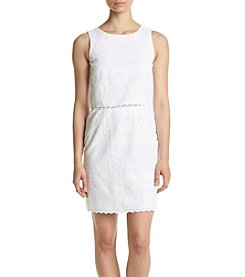 Ivanka Trump® Eyelet Popover Dress