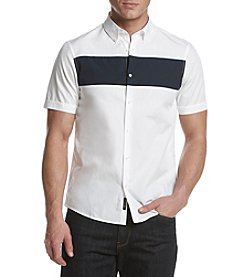 Michael Kors Men's Short Sleeve Slim Cuff Shirt