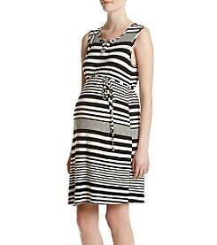Three Seasons Maternity™ Belted Stripe Tank Dress