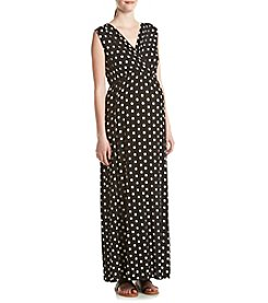 Three Seasons Maternity™ Dotted Surplice Tank Maxi Dress