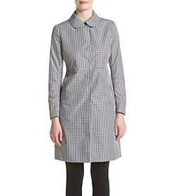 Anne Klein® Long Plaid Coat