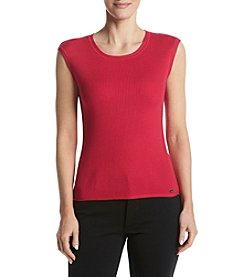 Calvin Klein Ribbed Knit Shell