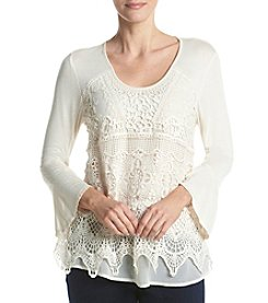 Oneworld® Lace Crochet Top