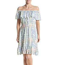 Chelsea & Theodore® Printed Off Shoulder Dress