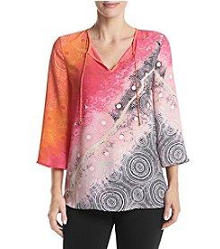 Rafaella® Tie Dye Woven Blouse