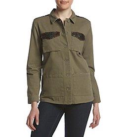 Sequin Hearts® Sequin Detail Utility Jacket