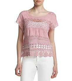Sequin Hearts® Crochet Insert Top