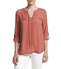 Sequin Hearts® Lace Up Utility Shirt