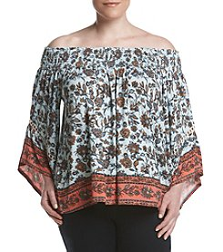 Skylar & Jade™ Plus Size Floral Off-Shoulder Top