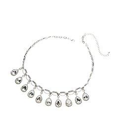 BT-Jeweled Teardrop Show Rhinestone Necklace