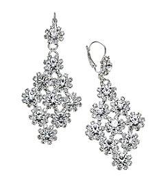 BT-Jeweled Euro Rhinestone Chandelier Earrings