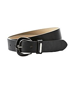 Steve Madden 1X Smooth Faux Leather Belt