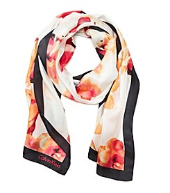 Calvin Klein Color Pop Floral Scarf