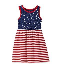 Mix & Match Girls' 2T-7 Star Striped Tank Dress