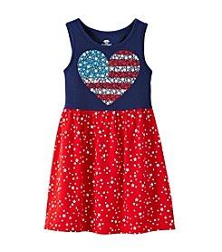 Mix & Match Girls' 2T-7 Heart Flag Tank Dress