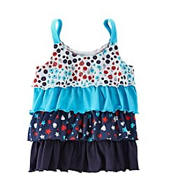 Mix & Match Girls' 2T-7 Tiered Ruffle Tank Top